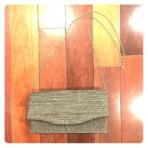 Sparkly Clutch with chain-like strap